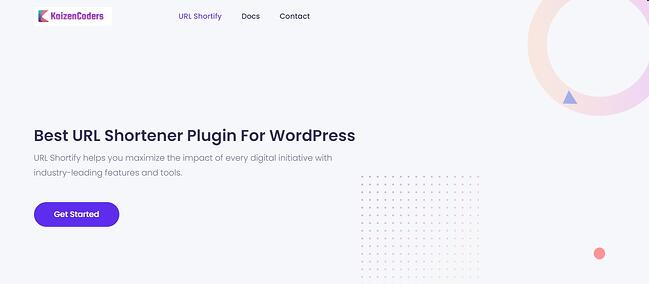 product page for the wordpress url shortener plugin url shortify