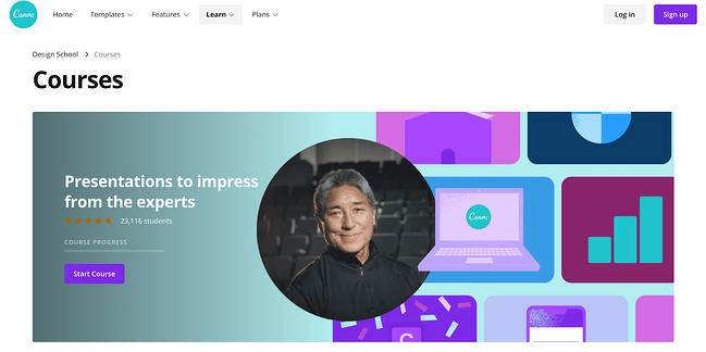 Canva certification course homepage