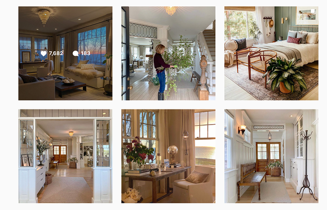 Sandra Cavallo's instagram profile featuring her interior design work
