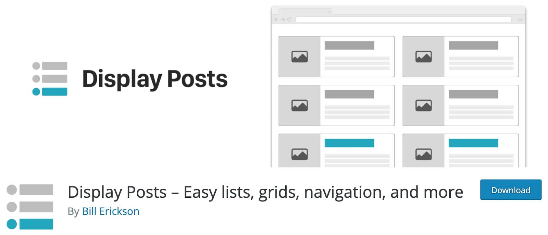 the wordpress popular post plugin Display Posts