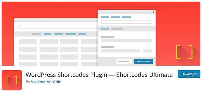 download page for the wordpress shortcode plugin shortcodes ultimate