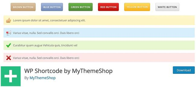 download page for the wordpress shortcode plugin wp shortcode by mythemeshop
