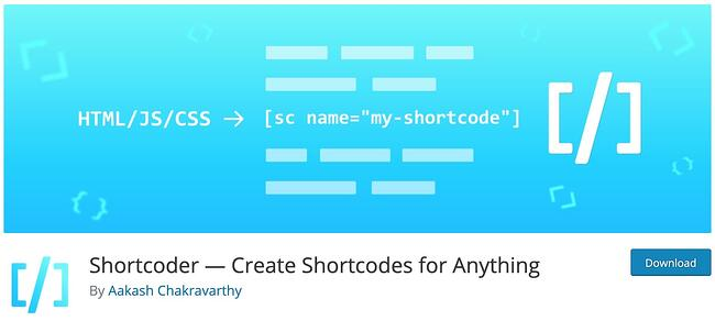 download page for the wordpress shortcode plugin shortcodeer