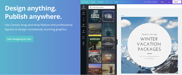 canva design anything publish anywhere tagline