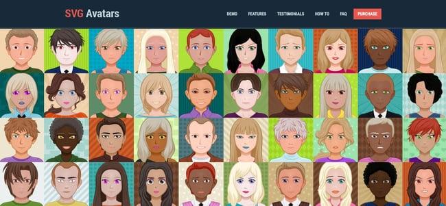 download page for the avatar wordpress plugin s.v.g. avatars generator
