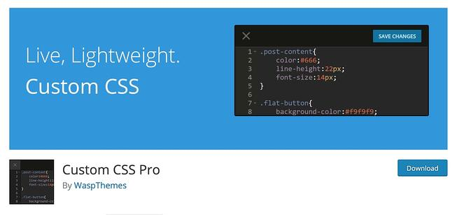 Custom CSS Pro Plugin Download for WordPress