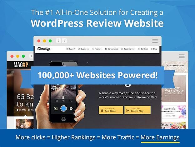 wp review pro the number one all in one solution for creating a website.
