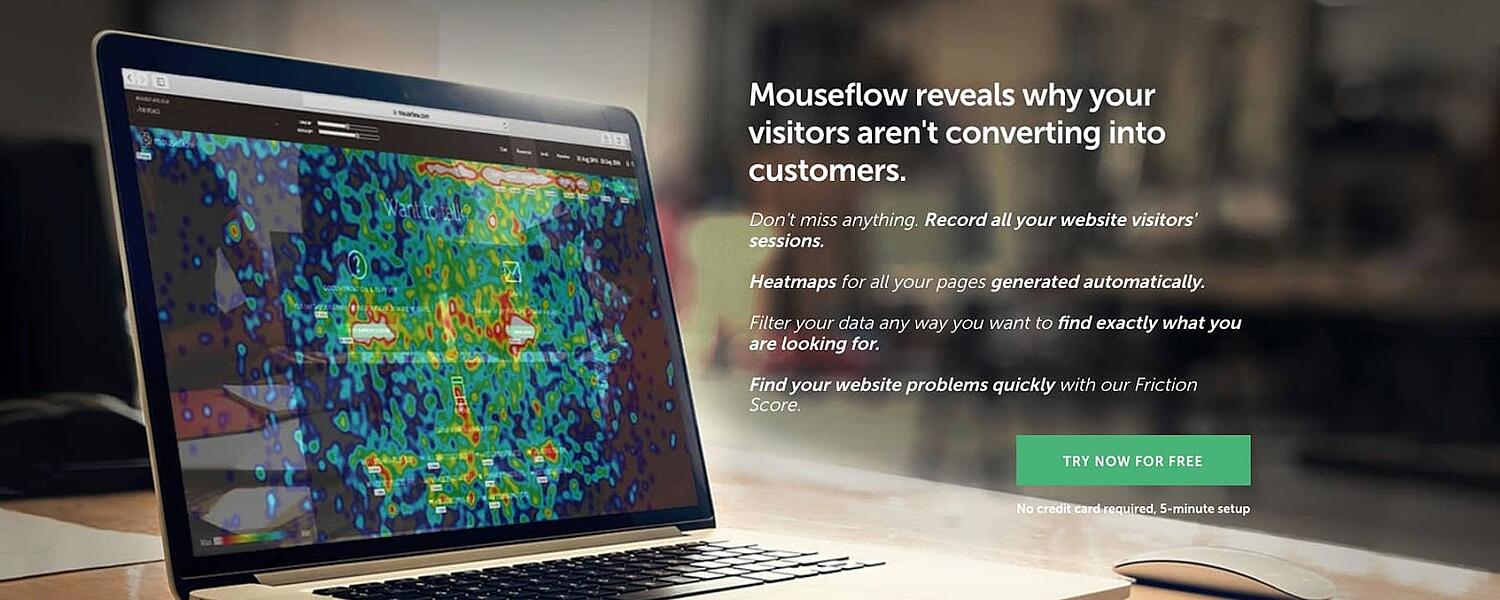 product page for the wordpress heatmap tool mouseflow