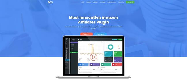 product page for the amazon affiliate wordpress plugin AAPro
