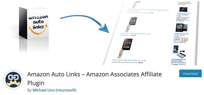 product page for the amazon affiliate wordpress plugin Amazon AutoLinks