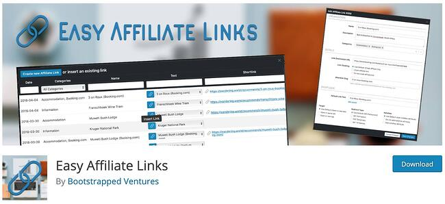product page for the amazon affiliate wordpress plugin Easy Affiliate Links
