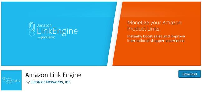 product page for the amazon affiliate wordpress plugin Amazon Link Engine
