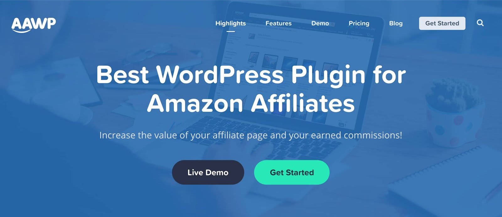 product page for the amazon affiliate wordpress plugin AAWP