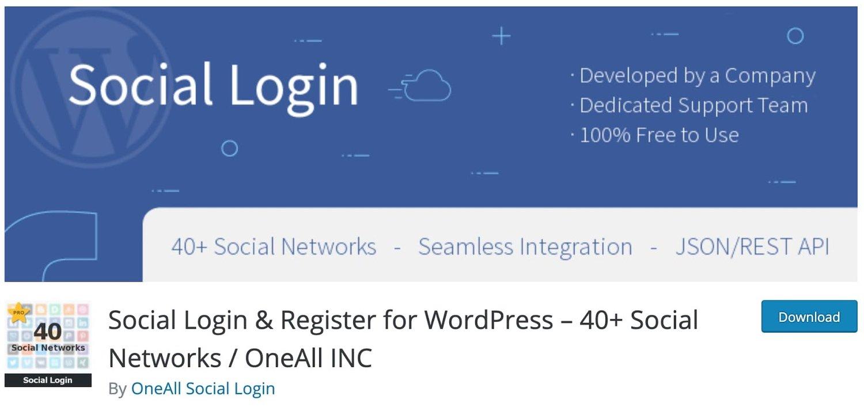 the WordPress social login plugin Social Login for WordPress