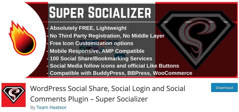 the WordPress social login plugin Super Socializer