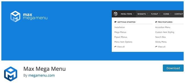Mobile-Friendly WordPress Plugin Max Mega Menu