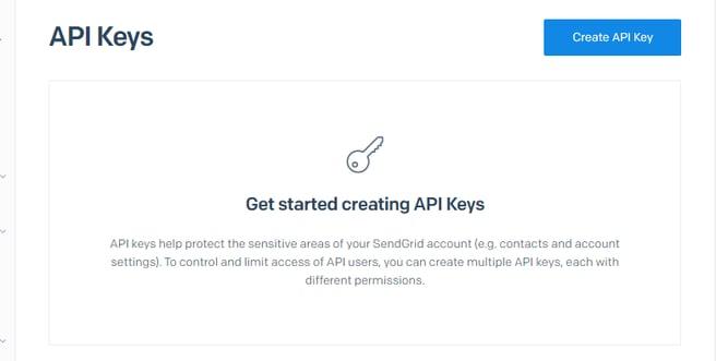 API Keys SendGrid