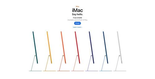 visual hierarchy white space example from Apple