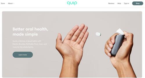 visual hierarchy white space example from Quip