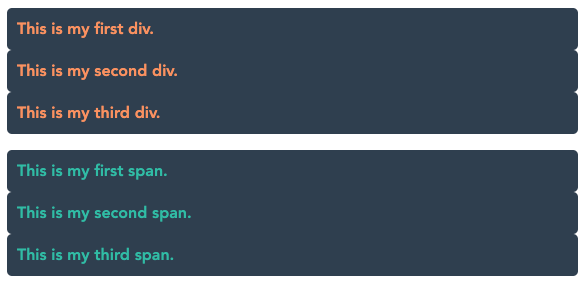 visual example of the CSS display property block