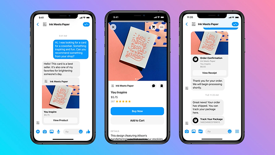 Facebook Messenger Shopping Features