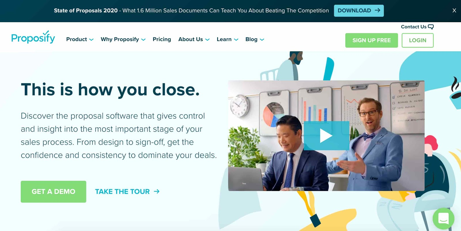 proposify example of a b2b sales tool