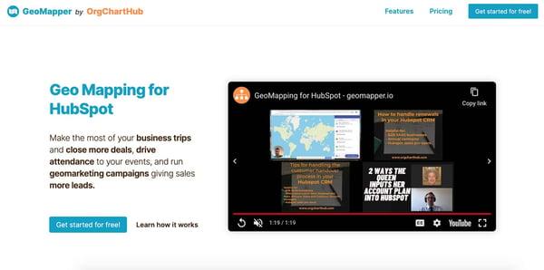 geomapper example of a b2b sales tool