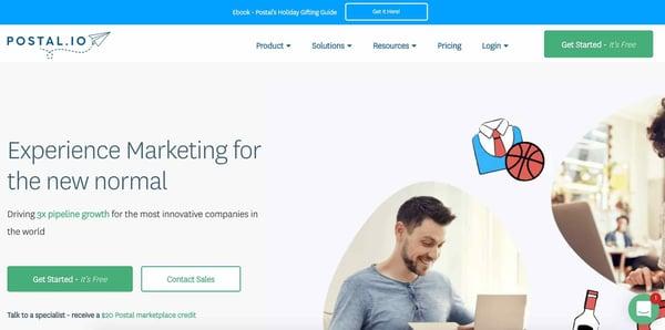 postal.io example of a b2b sales tool