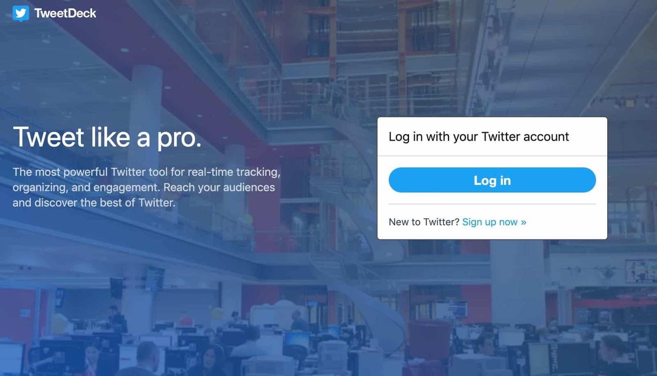 tweetdeck kostenloses Social Media Management Tool