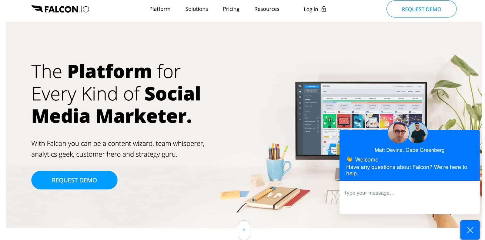 falcon.io social media management tool