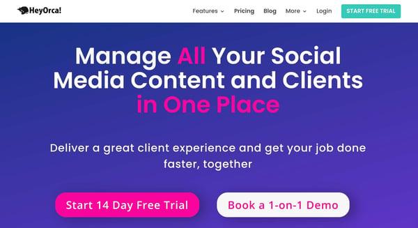 Heyorca!  Social Media Management Tool für Agenturen