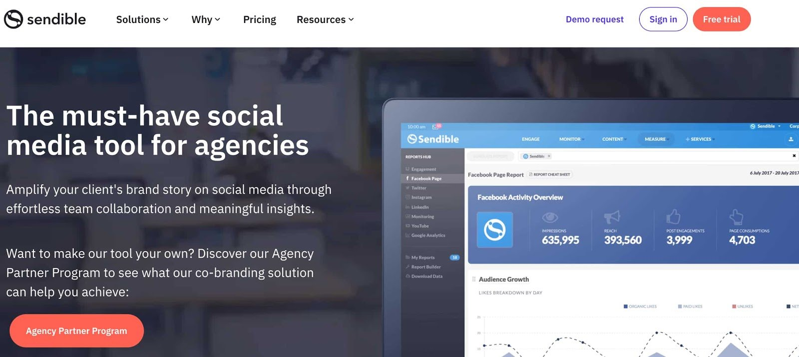sendible social media management tool for agencies