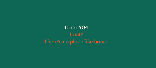 404 error page example from the website wildwood bakery