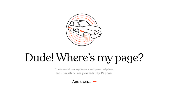 404 error page example from the website bruno