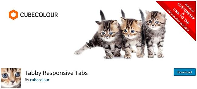 product page for the wordpress tab plugin tabby responsive tabs