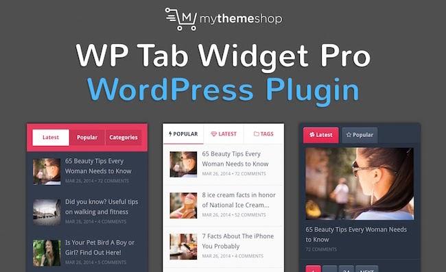 product page for the wordpress tab plugin WP tab widget