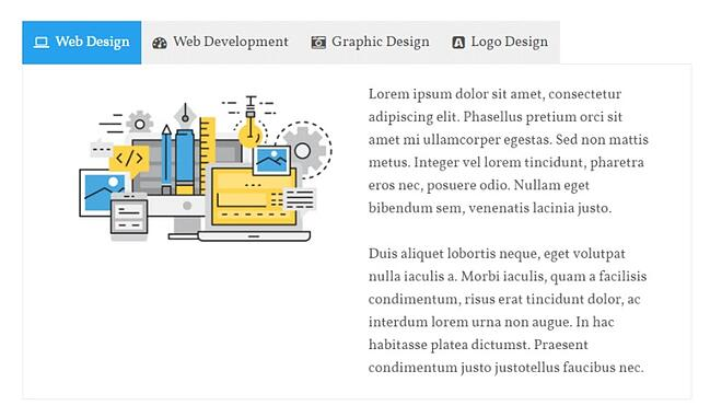 product page for the wordpress tab plugin tabs pro