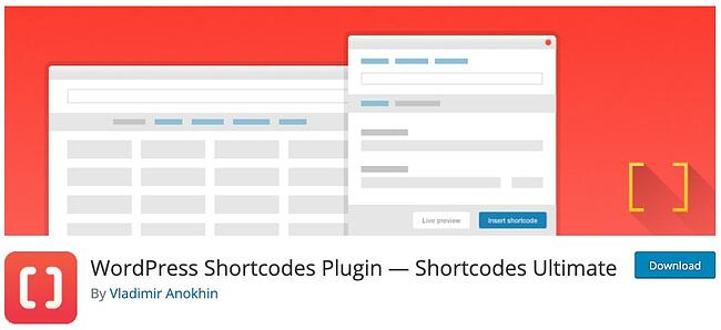 product page for the wordpress tab plugin shortcodes ultimate