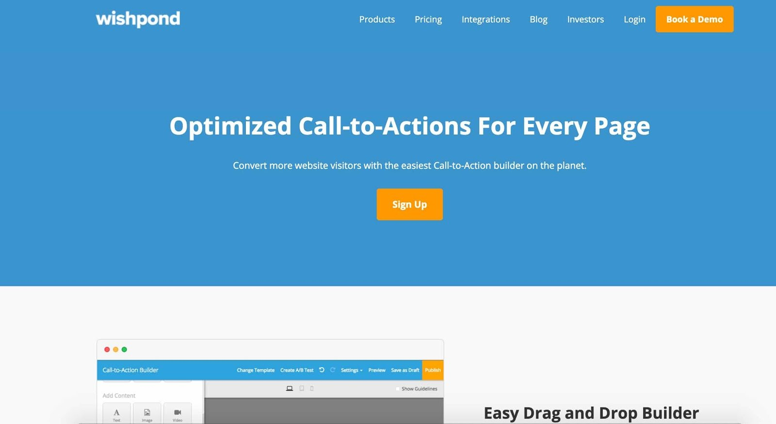 Wishpond call to action cta tool
