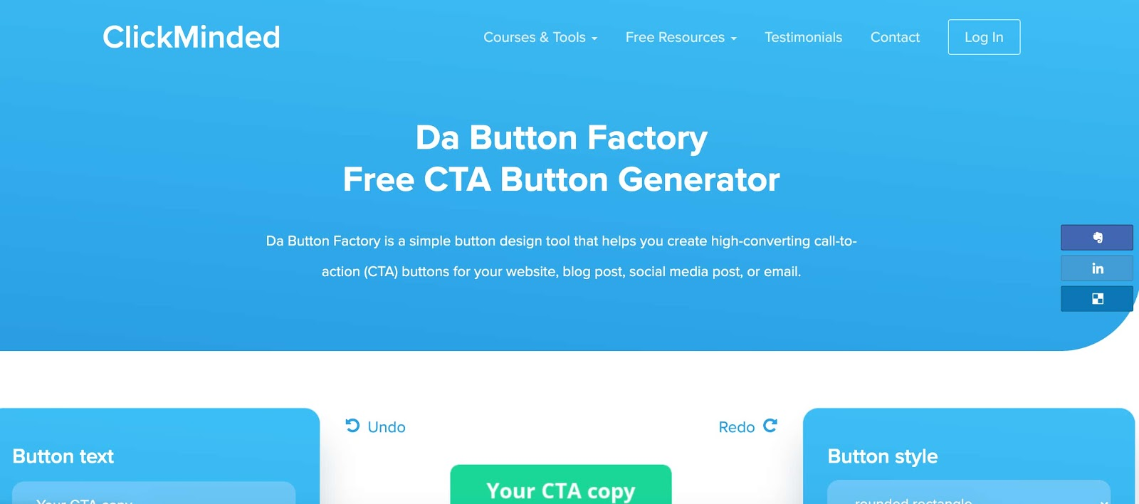 cta clickminded call to action tool