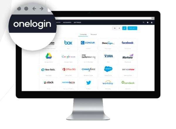 Single sign-on solution onelogin dashboard