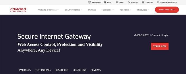 listing page of one of best DNS servers Comodo Secure DNS