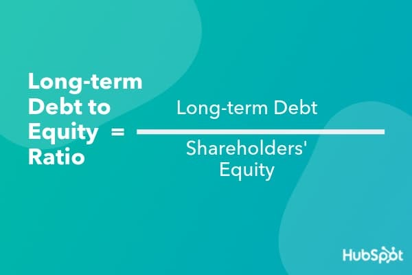 How to calculate long-term debt to equity ratio