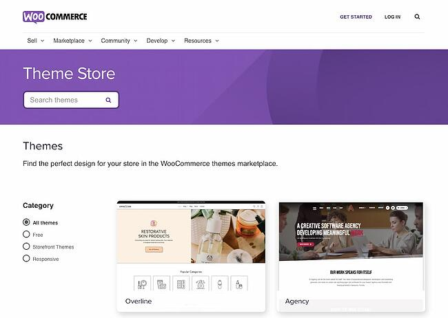 WooCommerce store offers themes to help you quickly start and customize an online store
