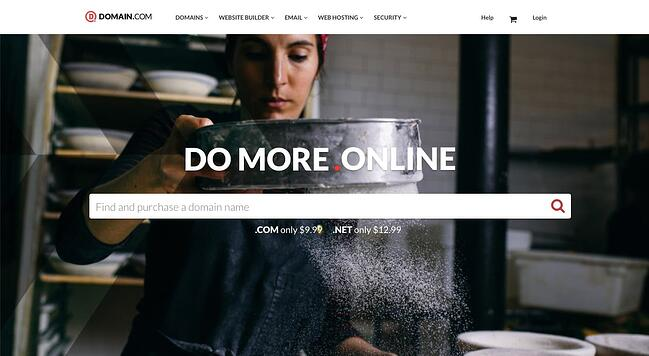 Domain.com can help you register a domain name for your online store