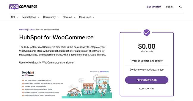 Installing extension like HubSpot for WooCommerce can help you start and enhance your online store