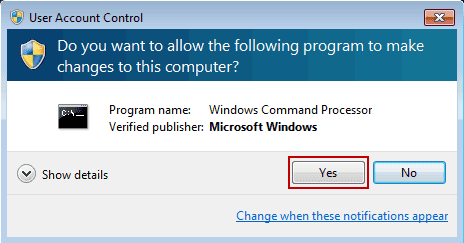 Popup asking to allow command prompt to make changes on site to flush DNS in windows 7