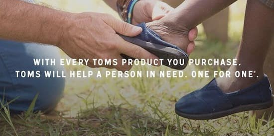 customer retention examples Toms