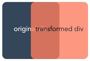 demonstration of the CSS translate effect