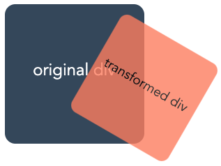 a demonstration of multiple combines CSS transformation effects